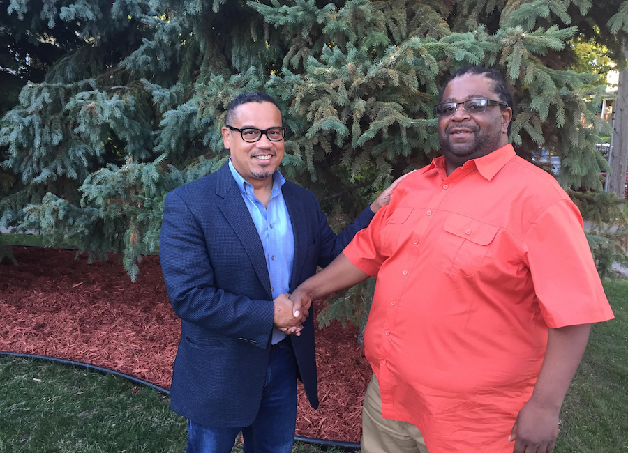 Londel French with Keith Ellison
